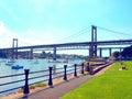 Tamar Bridges. Royalty Free Stock Photo