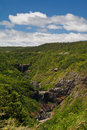 Tamarind waterfall cascades mauritius of the in st georges national park Stock Image