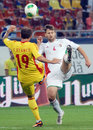 Tamas kadar in romania hungary s pictured action during the fifa world cup qualifier game between and won Stock Photos