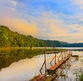 Tamblingan lake Royalty Free Stock Photography