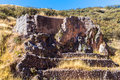 Tambomachay -archaeological site in Peru, near Cuzco. Devoted to cult of water Royalty Free Stock Photos
