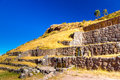 Tambomachay -archaeological site in Peru, near Cuzco. Devoted to cult of water Stock Photo