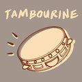 Tambourine illustration of a retro style vector eps file Royalty Free Stock Photo