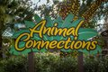 Animal Connections sign at Busch Gardens 1 Royalty Free Stock Photo