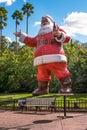 Coca Cola`s Santa Claus at Busch Gardens 42 Royalty Free Stock Photo