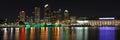 Tampa bay skyline at night