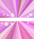 Tampa cor-de-rosa abstrata das listras Fotos de Stock