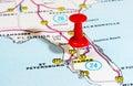 Tampa Florida USA map