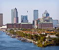 Tampa Skyline and Bay, Florida Royalty Free Stock Photo