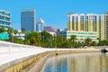 Tampa skyline viewed from Bayshore Blvd. Royalty Free Stock Photo