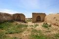 The tample in Ancient Panjekent near modern Penjikent city, Tajikistan Royalty Free Stock Photo