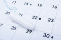 Tampon on calendar Royalty Free Stock Photo