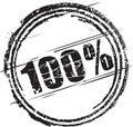 Tampon en caoutchouc avec le texte cents pour cent Photo stock