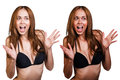 Tan before and after. Royalty Free Stock Photo