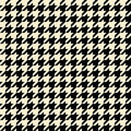 Tan Houndstooth Pattern Royalty Free Stock Photo