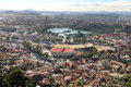 Tana from above a view of antananarivo the capitol of madagascar Stock Image