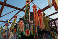 Tanabata festival a view of the homemade floats from the Royalty Free Stock Photography