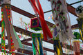 Tanabata festival a view of the homemade floats from the Royalty Free Stock Photos