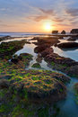 Tanah lot complex. Bali. Indonesia Royalty Free Stock Photo
