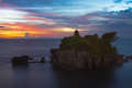 Tanah Lot temple in Bali Stock Images