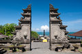 Tanah Lot temple gates, Bali island, Indonesia Royalty Free Stock Photo