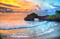 Tanah Lot Temple on Sea in Bali Island Indonesia Royalty Free Stock Photo