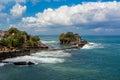Tanah Lot Temple on Sea in Bali Island Indonesia Royalty Free Stock Photo