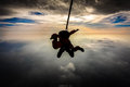 Tandem jump Royalty Free Stock Photo