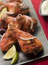 Tandoori Style Baked Chicken Drumsticks Royalty Free Stock Photography