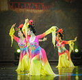 The tang dynasty palace music and dance june in nanchang art center rural credit cooperatives in jiangxi fuk troupe rehearsal in Stock Photo