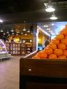 Tangerine basket Stock Image