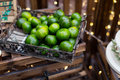 Tangerine in the basket at party Stock Photography