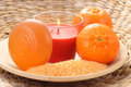 Tangerine bath Royalty Free Stock Photography