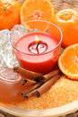 Tangerine bath Stock Photos