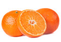 Tangerine fruit closeup isolated on white Stock Images