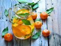 Tangerine lemonade and mint homemade Royalty Free Stock Images
