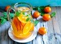 Tangerine lemonade and mint homemade Stock Image
