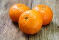 Tangerine mandarin honey orange on wood table Royalty Free Stock Photos