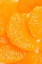 Tangerine peeled background  Royalty Free Stock Images