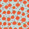 Tangerine set seamless pattern