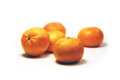 Tangerine several tangerines with white background Stock Photos