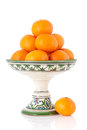Tangerines on bowl Royalty Free Stock Images
