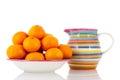 Tangerines on bowl Royalty Free Stock Photos