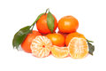 Tangerines isolated on a white background Royalty Free Stock Photo