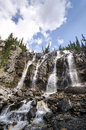 Tangle creek falls in canada sulla icefield parkway Stock Image