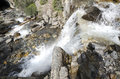 Tangle creek falls in canada sulla icefield parkway Royalty Free Stock Photography