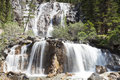 Tangle falls icefields parkway alberta canada Royalty Free Stock Photos