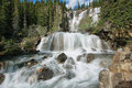 Tangle falls in jasper national park alberta canada Stock Photo