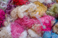 Tangle of silk background soft and colorful Stock Image