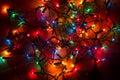 Tangled Christmas Lights Royalty Free Stock Photo